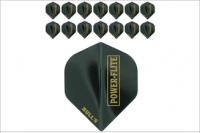 Bull's One Colour Powerflite - Solid Black (Gold) 5PACK