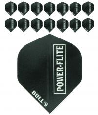 Bull's One Colour Powerflite - Solid Black (White) 5PACK