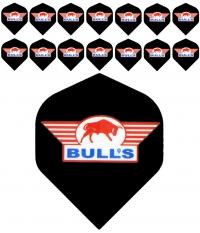 Bull's One Colour Powerflite - Solid Bull's Logo (Red) 5PACK
