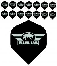 Bull's One Colour Powerflite - Solid Bull's Logo (Silver) 5PACK