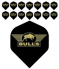 Bull's One Colour Powerflite - Solid Bull's Logo (Gold) 5PACK