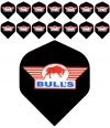 Bull's One Colour Powerflite - Solid Bull's Logo (Red) 5PACK